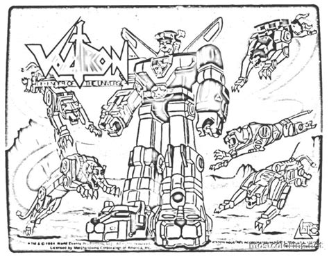 voltron coloring pages coloring home
