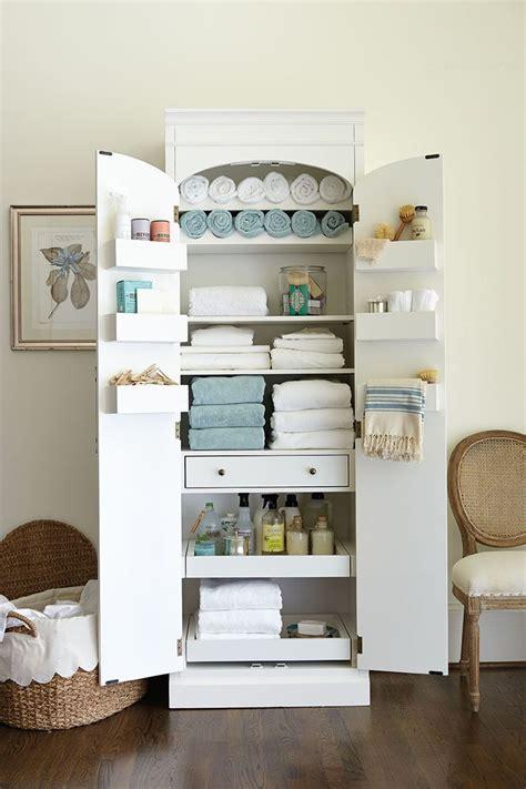 freestanding cabinet  craft linen storage organize
