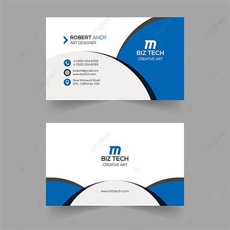 creative vector blue business card template template