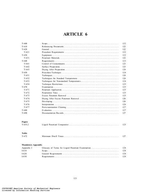 Asme v 2001 article 6