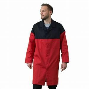 Blouse De Travail Homme : blouse de travail manches longues couleurs rouge noir ~ Dailycaller-alerts.com Idées de Décoration