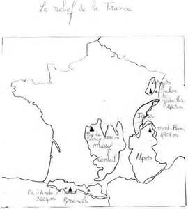 Carte Des Reliefs De à Compléter by Pour Ceux Qui Auraient Oubli 233 Leur Classeur Le De