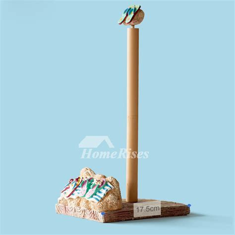 Funny Free Standing Nautical Beach No Drill Toilet Paper