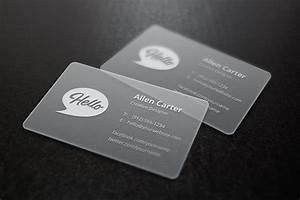 Translucent, Business, Cards, Mockup
