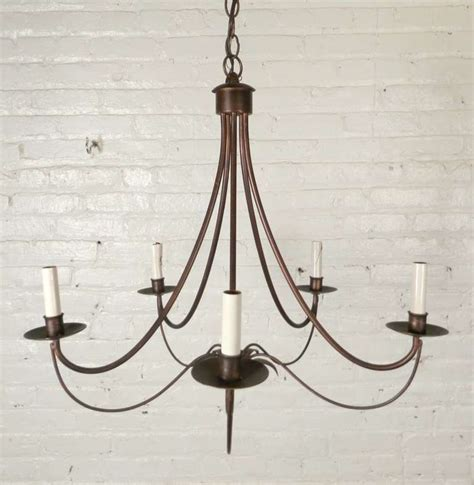 attractive mid century modern wrought iron chandelier at