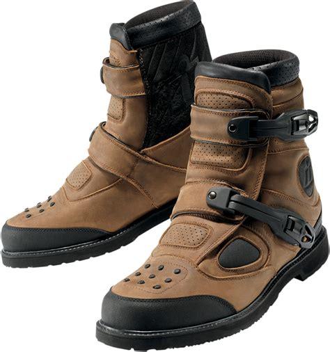 buy motorcycle waterproof boots icon patrol waterproof motorcycle riding boots brown