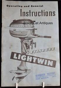 Original Owners Boat Manual Evinrude 3 Hp Lightwin Model