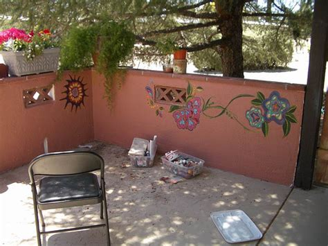 ideas for painting garden walls photo