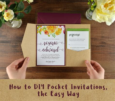 How To Diy Pocket Invitations The Easy Way Cards