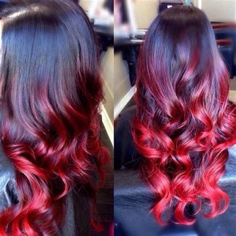 ombre hair rouge sur base brune  raisons dy succomber