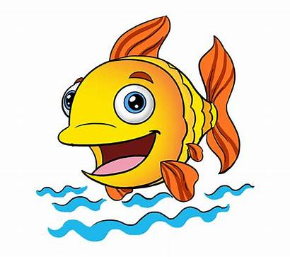 Fish Cartoon Drawing Easy Clip Draw Kartun