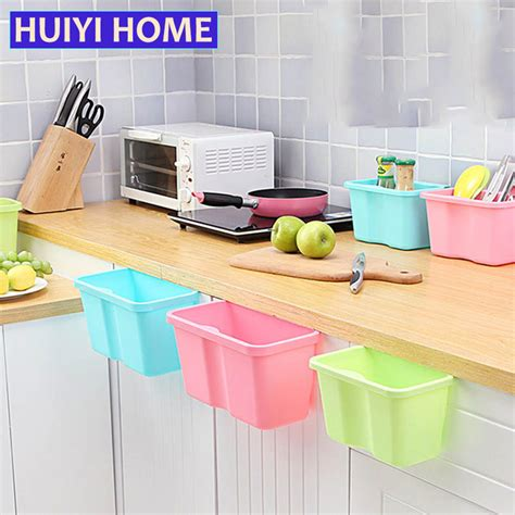 storage boxes kitchen huiyi home door back hanging trash storage box desktop 2545