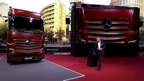 mercedes benz actros truck revealed youtube