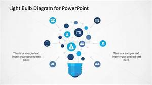 Light Bulb Network Diagram For Powerpoint