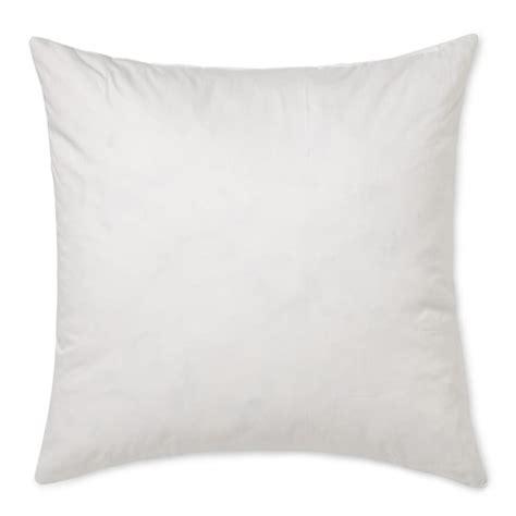 18 x 18 pillow insert williams sonoma decorative pillow insert 18 quot x 18