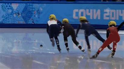 Speed Skating Olympic Olympics Skaters Fails Gold