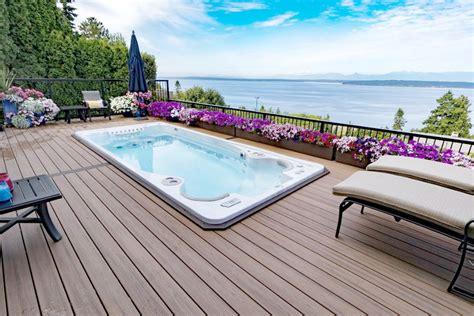 installing  swim spa professional deck builder multi