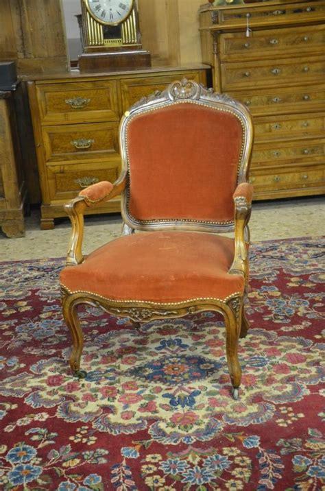 fauteuil louis philippe noyer sculpt 233 velours