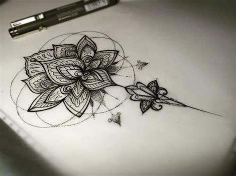 black mandala flower tattoo  forearm tattoos mandala