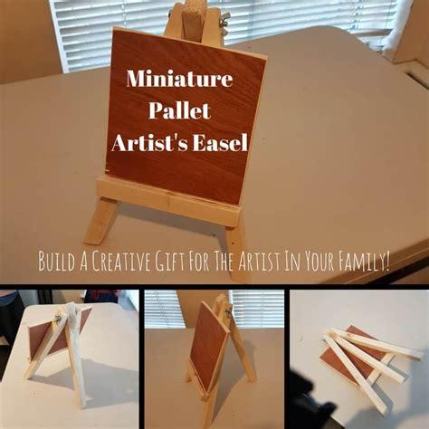 miniature pallet wood artists easel   gift  pallets