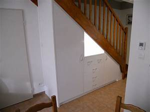 meuble sous escalier brodie agencement With meuble sous escalier