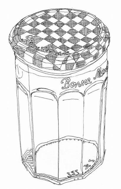 Line Drawings Jar Jam Drawing Empty Bonne