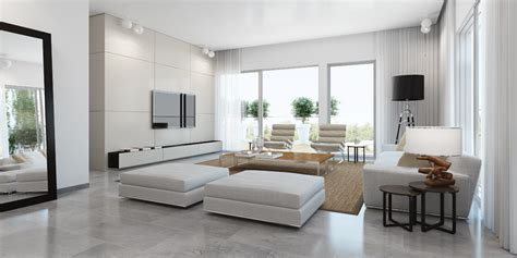 White Interior Homes Modern White Living Room Interior Design Ideas