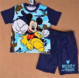 Disney Mickey Mouse Boys Kids Pajamas Pyjamas Summer Short Outfit Sleepwear Set | eBay
