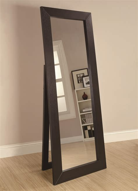 floor mirror value city coaster accent mirrors black finish floor mirror value city furniture floor mirrors