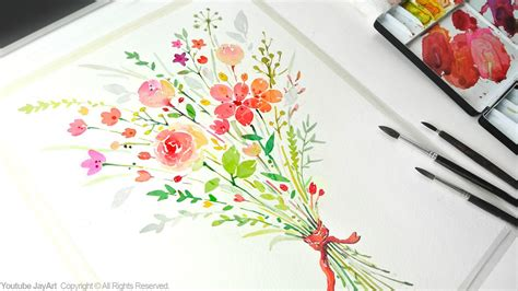 How To Paint A Flower Bouquet With Watercolors