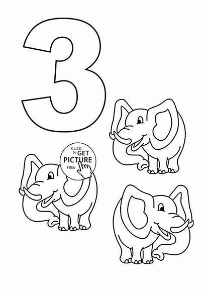 Coloring Number Pages Sheets Counting Printables Numbers