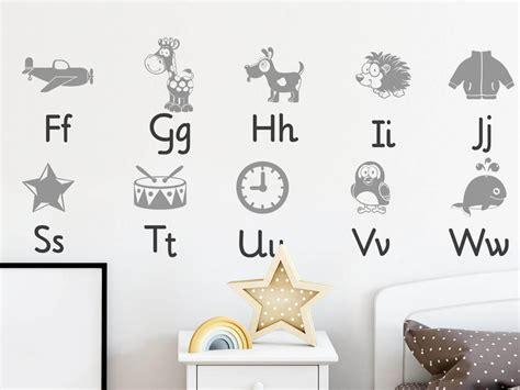 Wandtattoo Kinderzimmer Buchstaben wandtattoo kinderzimmer alphabet abc lernen wandtattoos de