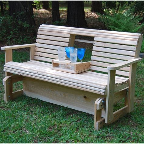 porch bench glider la swings middle console armrest 5ft porch glider