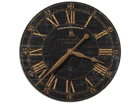 Uttermost Bond Street 18 Inch Black Wall Clock