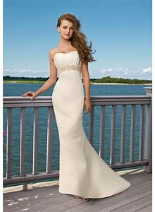 strapless beach wedding dresses sang maestro With strapless beach wedding dresses
