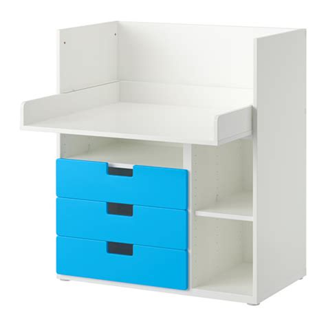 ikea white desk with drawers stuva desk with 3 drawers white blue ikea