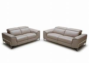 Modern reclining sofa set vg881 leather sofas for Modern reclining sofa
