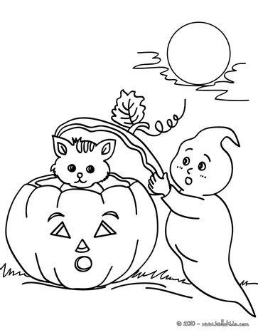 coloring pages autumn halloween pumpkins