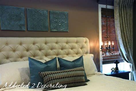 diamond tufted upholstered headboard addicted  decorating