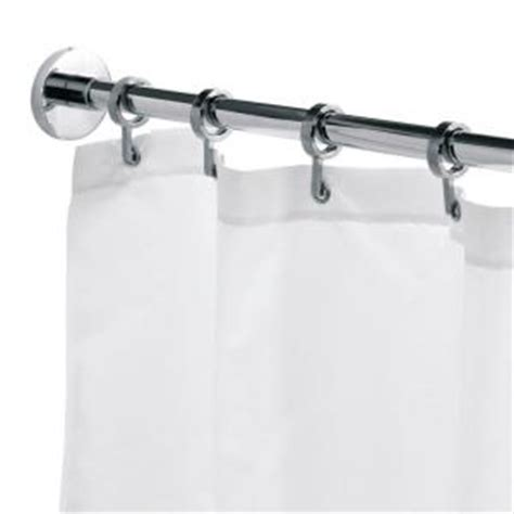 croydex round 98 4 in l luxury shower curtain rod with