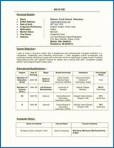 Resume For A Teacher In India