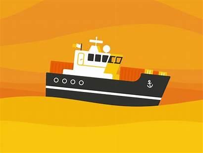 Ship Sophia Loop Sailing Icon Dribbble Animation
