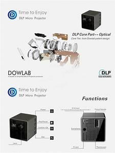 Unic P1 Mini Led Portable 30 Lumens Hdmi Projector Dlp