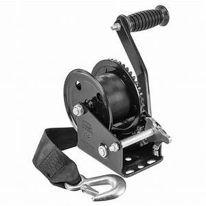West Marine 1500 Lb  Manual Trailer Winch With Strap