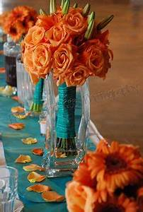 1000+ images about Orange and Teal wedding flowers on ...