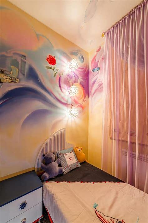 comment dessiner sur un mur de chambre fresque murale dans la chambre d enfant 35 dessins joviaux