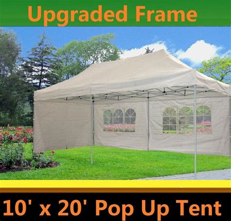 pop  canopy party tent white  model upgraded frame ebay