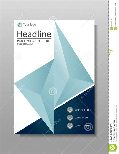 book journal report cover design  vector stock