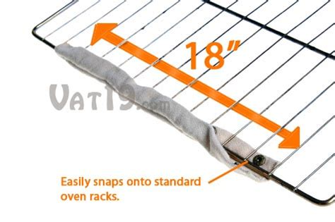 oven rack guard cool touch oven rack guard 2 pack eliminates burns from