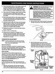 Carburetor Adjustment  D  Carburetor Adjustment